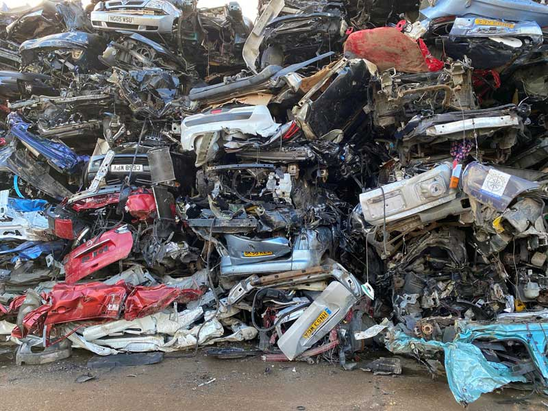 Image of scrap cars from Ampthill Metal Company Ltd
